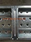 Het gegalvaniseerde Staal Geperforeerde Broodje die van de Bouw van de Planken van de Steiger van de Plaat de Fabriek van de Machine vormen