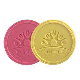 Personnaliser la forme ronde Logo en relief la cuvette de PVC Coaster, tapis de coupe de cuisson en PVC