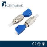 FC mannetje aan de Vrouwelijke Hybride Optische Adapter van de Vezel LC