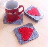 Lã de decoração de casamento de alta qualidade sentida Coasters