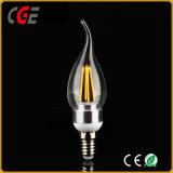 Oro de la alta calidad/luz de bulbo de plata del filamento LED de 2W 4W C35