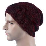 メンズ柔らかい伸張の冬によって編まれる二重層の暖かい帽子の帽子の帽子(HW423)