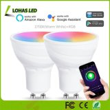 5W GU10 LED GU10 regulable Bombilla de luz de WiFi + RGB Color blanco cálido Cambiar bombilla Smart WiFi