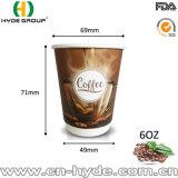 doppel-wandiges Papiercup 8oz mit Kappe für heißen Kaffee