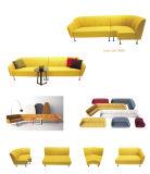 Tipo di cuoio sofà sezionale del blocco per grafici di legno per zona pubblica