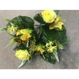 Украшение партии дома венчания листьев фальшивки цветка искусственних цветков пука бабочки Silk