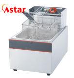 Frituurpan van de Bovenkant van de Lijst van Astar de Elektrische voor Braadpan van de Keuken van de Tank van de Verkoop de Enige Commerciële