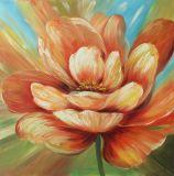 Erstaunliche Blumenfarbanstriche - Segeltuch-Wand-Kunst