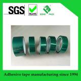 Cinta resistente de Temperatur del animal doméstico verde adhesivo del silicón alta para el enmascarado de la pintura de aerosol de polvo
