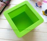 Rectangle savon fait main moule silicone moule à gâteau 9*9*6.5cm