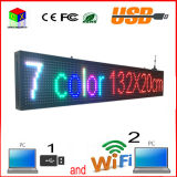 O computador ao ar livre WiFi do USB da cor cheia da varredura P10 1/4 edita para o indicador de diodo emissor de luz dos media de anúncio