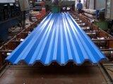 Trempés à chaud en acier ondulé galvanisé recouvert de zinc tôle de toit