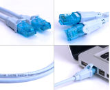 Cabo de Ethernet flexível protegido do gato 6