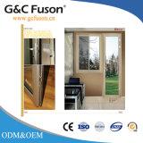 Conception en aluminium/aluminium Sash fenêtre en verre coulissantes horizontales