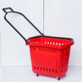 Markt-Speicher-Einkaufskorb-Plastikgriff-Laufkatze-Körbe