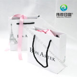 Dom personalizado Impressão Embalagem de sacos de papel com alças sortidas