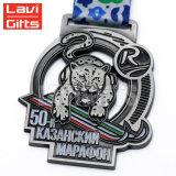 Alliage de zinc personnalisée 2018 Promotion de la médaille Fields prédiction Médaille Sport avec ruban