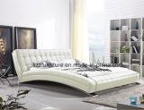 Exklusiver italienischer Entwurfs-modernes ledernes Wellen-Bett