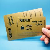 Visum-Hauptkarte inforormation Schoner RFID, der Blocker Karte blockt