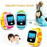 다채로운 접촉 스크린 Y8를 가진 휴대용 아이 또는 아이 GPS 추적자 시계