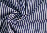 Peça de vestuário de têxteis de algodão poliéster T/C Stripes Camiseiros Shirt simples tecido tingidos de Fios
