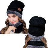 남자의 겨울 베레모 모자 여자는 모자 스카프를 데운다
