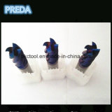 炭化物4のフルートのNano青い上塗を施してある製粉カッターHRC60