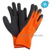 Gant visible élevé de travail de sûreté de l'hiver de gants de caoutchouc spongieux