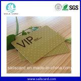 Carte de plastique du prix bas VIP de qualité