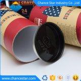 Embalaje de regalo personalizado el tubo de papel Kraft con estaño tapa