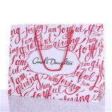 관례에 의하여 인쇄된 선물 부대 종이 쇼핑 백은 제조한다