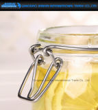 contenitore di memoria di vetro rotondo dell'alimento della cucina 750ml con la protezione della clip