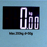 200kg Pantalla Grande (88X55mm) de cristal electrónica Cuarto de Hotel Escala corporal