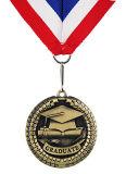 Médaille en alliage de zinc de souvenir de graduation avec la bande