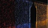 Luzes do casamento da decoração da luz da cachoeira do diodo emissor de luz