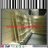 Góndolas del supermercado del metal con el panel trasero de rejilla