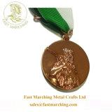 Custom подарок для продвижения медальон Золотой Золотой Лошади военных медаль ленты