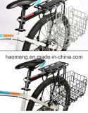 Cestino d'acciaio piegante nero della bicicletta