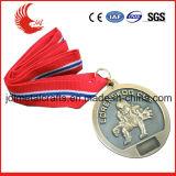Medaglia su ordinazione poco costosa del premio del metallo di stile popolare con la sagola
