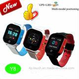 IP67 imprägniern Kinder GPS-Verfolger-Uhr mit SIM Einbauschlitz Y8