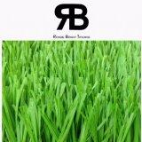 césped artificial sintetizado de la hierba del paisaje de 40-50m m para ajardinar del campo de fútbol del balompié