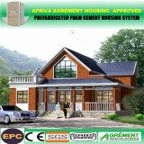 O jogo pré-fabricado Prefab do frame de aço de baixo custo dirige casas de campo das casas