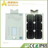 15W ESPIGA nova todo em uma luz de rua solar com a bateria da vida Po4