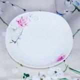 Piatto di ceramica del grafico a torta del nuovo di osso di Cina di pranzo commercio all'ingrosso dell'insieme