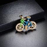 Brooch сплава OEM плакировкой золота Rose Bike эмали уникально