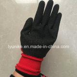 Ondulada recubierto de látex de la mano de obra industrial seguridad de protección guantes de trabajo