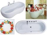 """66 """" Cupc二重楕円形ボールの床の永続的な浴室"""