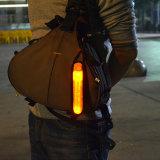 夜ランナーおよび乗馬反射アームリストバンド点滅LEDの腕章のための4.0cm広く