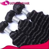Волосы популярной волны человеческих волос глубокой Weft перуанские