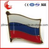 Esmalte macio material do metal do emblema do Pin da bandeira nacional